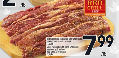 Red Grill Sliced Marinated Beef Short Ribs