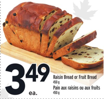 Raisin Bread or Fruit Bread