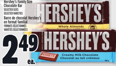 Hershey's Family Size Chocolate Bar