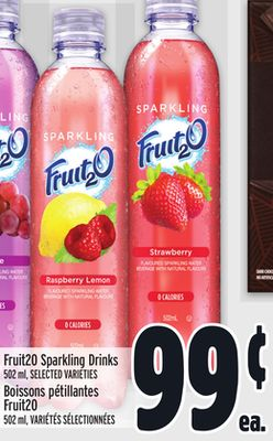 Fruit2o Sparkling Drinks
