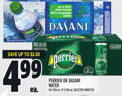 Perrier Or Dasani Water