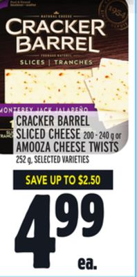 Cracker Barrel Sliced Cheese