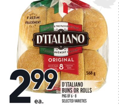 D'italiano Buns Or Rolls