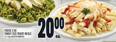 Fresh 2 Go Family Size Ready Meals