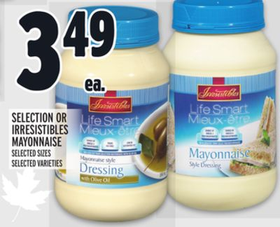 Selection Or Irresistibles Mayonnaise