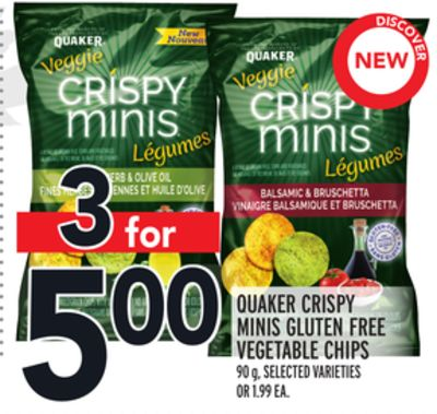 Quaker Crispy Minis Gluten Free Vegetable Chips