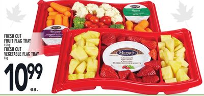 Fresh Cut Fruit Flag Tray 1.6 Kg or Fresh Cut Vegetable Flag Tray 1 Kg