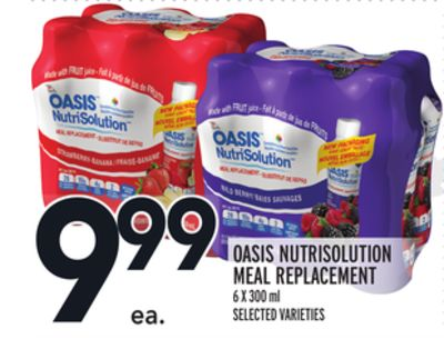 Oasis Nutrisolution Meal Replacement