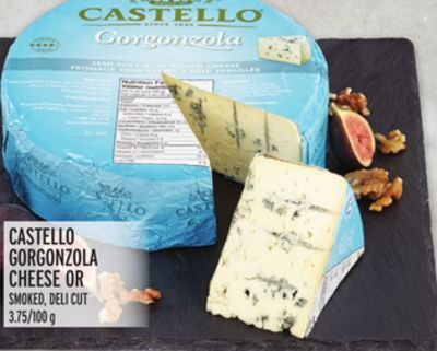Castello Gorgonzola Cheese Or Smoked - Deli Cut
