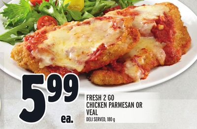 Fresh 2 Go Chicken Parmesan Or Veal Deli Served - 180 g