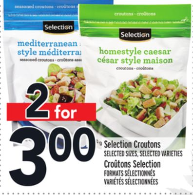 Selection Croutons