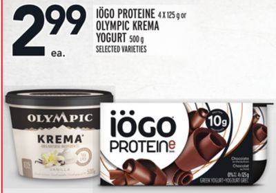 Iögo Proteine 4 X 125 g or Olympic Krema Yogurt 500 g