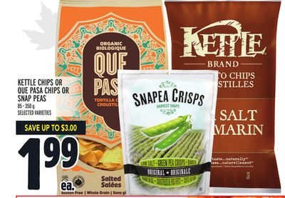Kettle Chips Or Que Pasa Chips Or Snap Peas