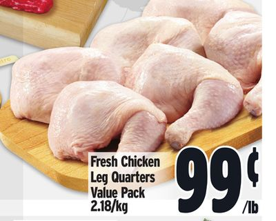 Fresh Chicken Leg Quarters Value Pack