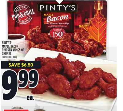 Pinty's Maple Bacon Chicken Wings Or Chunks