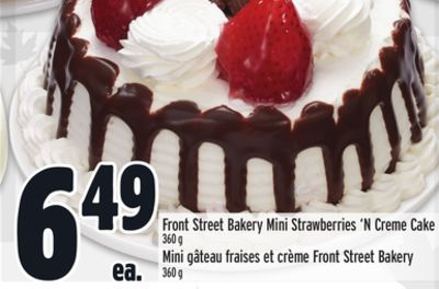 Front Street Bakery Mini Strawberries 'N Creme Cake