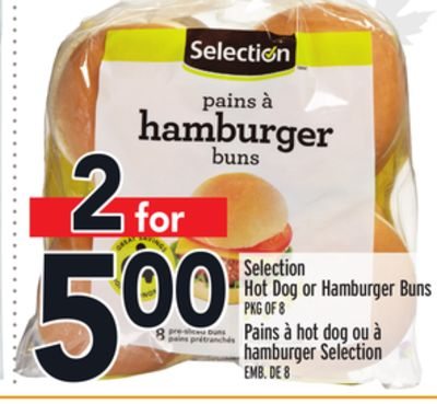 Selection Hot Dog or Hamburger Buns