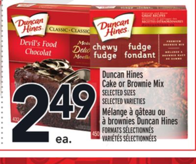 Duncan Hines Cake or Brownie Mix