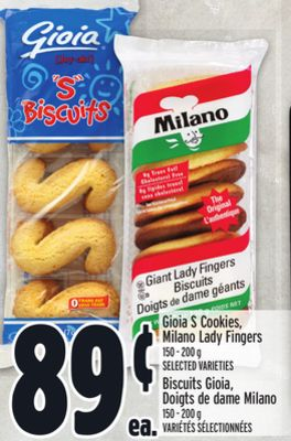 Gioia S Cookies - Milano Lady Fingers
