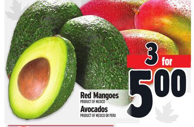 Red Mangoes Red Mangoes Avocados Product Of Mexico Or Peru