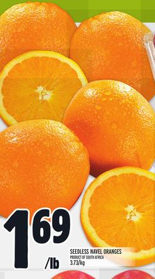 Seedless Navel Oranges