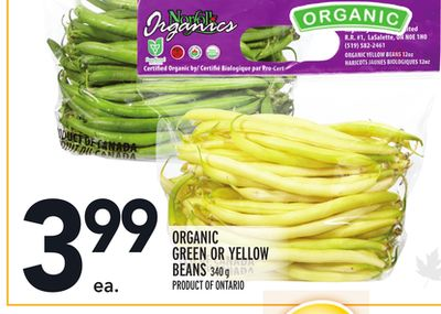 Organic Green Or Yellow Beans