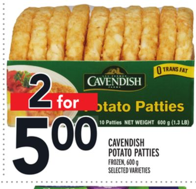 Cavendish Potato Patties