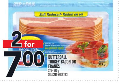 Butterball Turkey Bacon Or Franks-