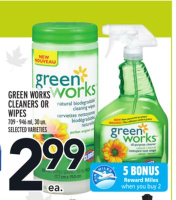 Green Works Cleaners Or Wipes