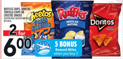 Ruffles Chips - Doritos Tortilla Chips Or Cheetos Snacks