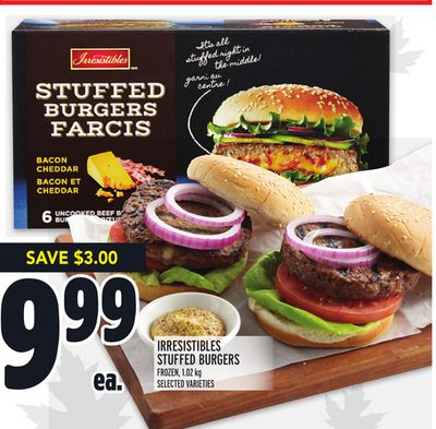 Irresistibles Stuffed Burgers