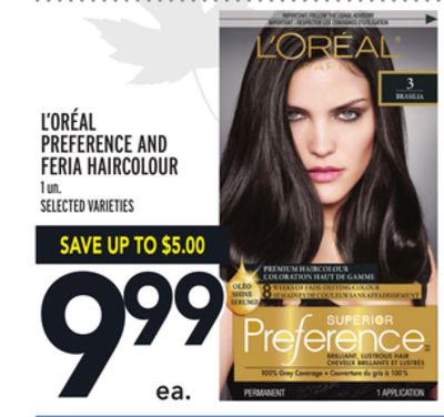 L'oréal Preference And Feria Haircolour