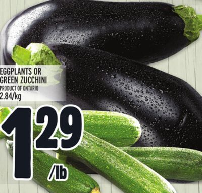 Eggplants Or Green Zucchini