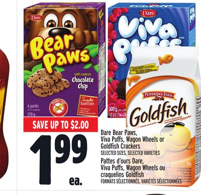 Dare Bear Paws - Viva Puffs - Wagon Wheels or Goldfish Crackers