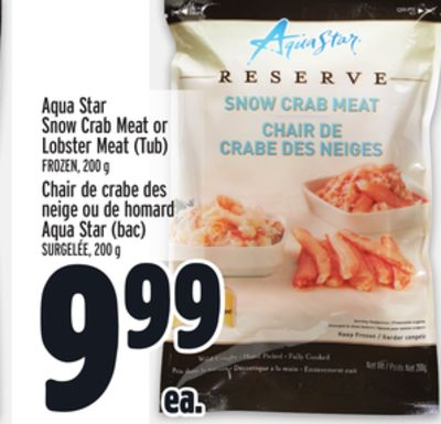 Aqua Star Snow Crab Meat or Lobster Meat (Tub)