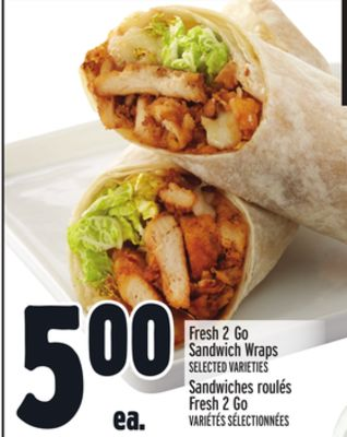 Fresh 2 Go Sandwich Wraps