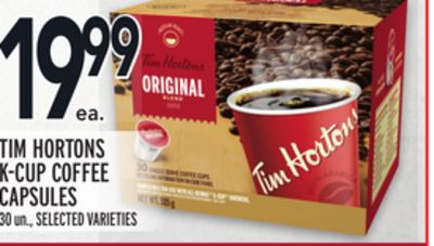 Tim Hortons K-cup Coffee Capsules