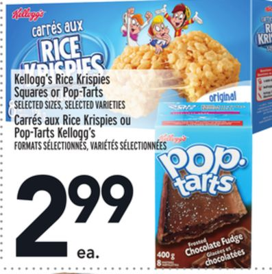 Kellogg's Rice Krispies Squares or Pop-tarts