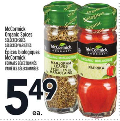 McCormick Organic Spices