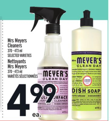 Mrs Meyers Cleaners