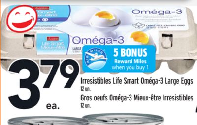 Irresistibles Life Smart Oméga-3 Large Eggs