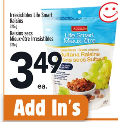 Irresistibles Life Smart Raisins