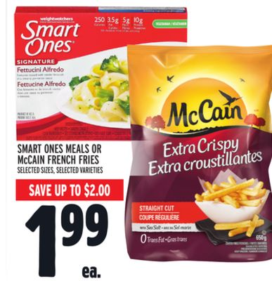 Smart Ones Meals Or Mccain French Fries