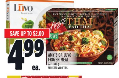 Amy's Or Luvo Frozen Meal