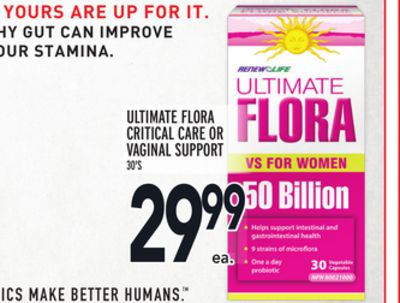 Ultimate Flora Critical Care Or Vaginal Support
