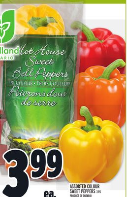 Assorted Colour Sweet Peppers 3 Pk