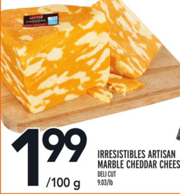 Irresistibles Artisan Marble Cheddar Cheese