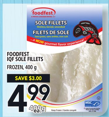 Foodfest Iqf Sole Fillets
