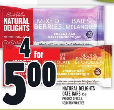 Natural Delights Date Bars