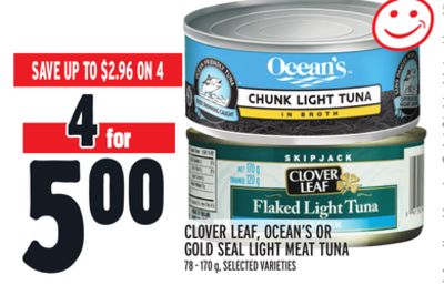 Clover Leaf - Ocean's Or Gold Seal Light Meat Tuna